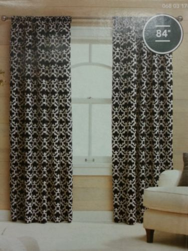 Target Threshold Curtains Black And White
