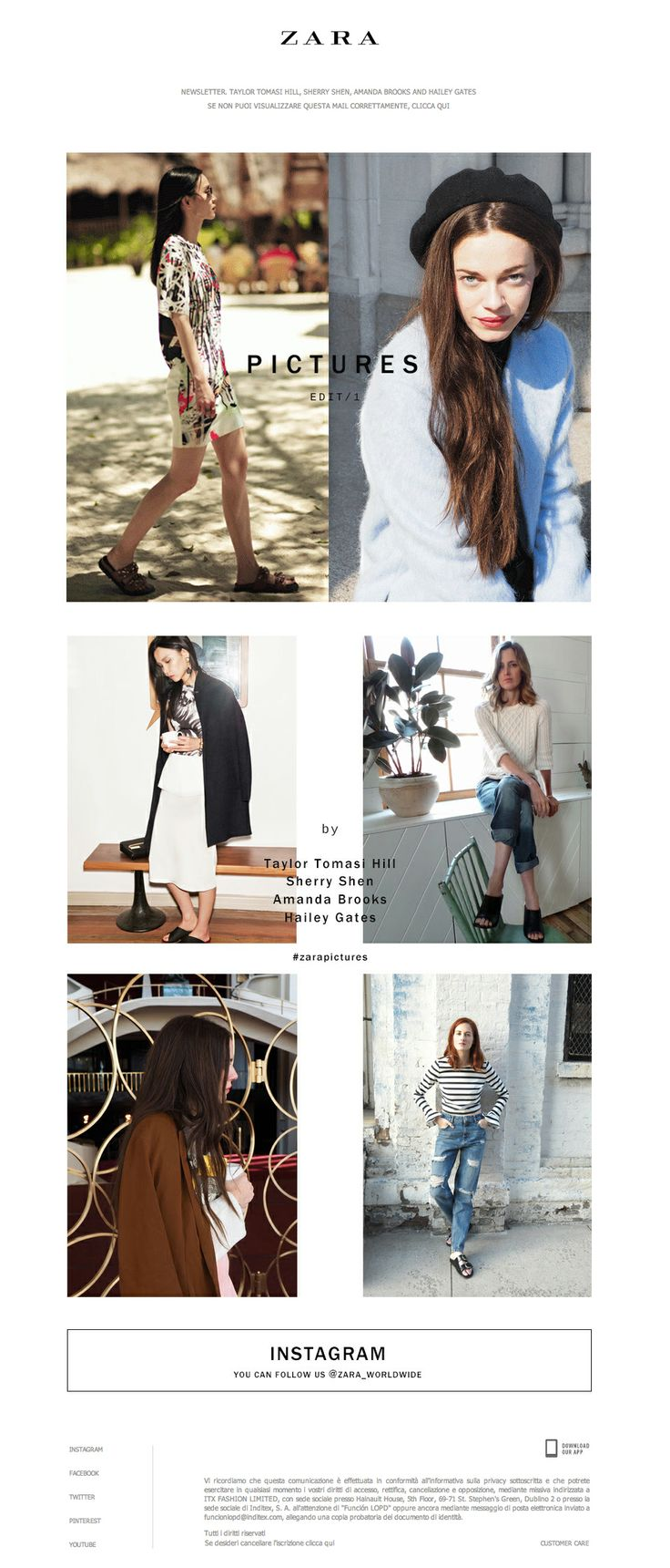 Zara poster design - Zara Poster Design Newsletter Zara 03 2014 Pictures Is Back Edit 1