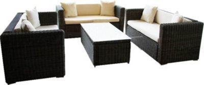 heute-wohnen Luxus Poly-Rattan Sofa-Garnitur RomV, 2+2+2 Jetzt bestellen unter: https://moebel.ladendirekt.de/garten/gartenmoebel/loungemoebel-garten/?uid=15f9e2f3-1784-535c-bf5e-c5afff734a5d&utm_source=pinterest&utm_medium=pin&utm_campaign=boards #loungemoebelgarten #garten #gartenmoebel
