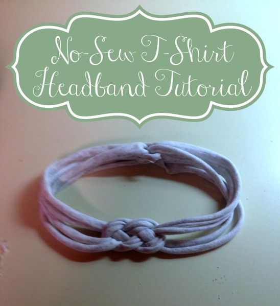 I just made two of these with old tshirts!  Don't even need the hot glue gun, just use a piece of the hem to tie the ends together.  Making all my old shirts into these!  Now if only headbands looked good on me!