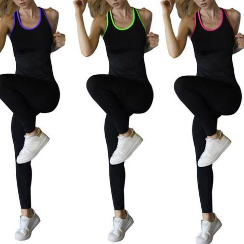 168b4e86b2928 Summer Women Vest Fitness Slim Tight Stretch Sleeveless Quick Dry Workout  Female Simple Tank Tops
