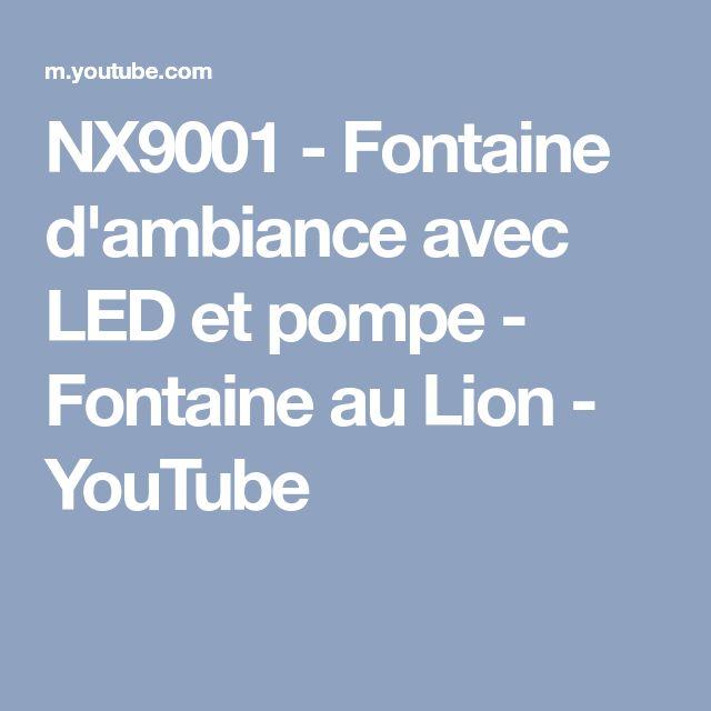 NX9001 - Fontaine d'ambiance avec LED et pompe - Fontaine au Lion - YouTube