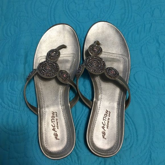 💥 Kenneth Cole leather flip flops FINAL PRICE 💥 Rold/Rose gold dressy flip flops with embellishment. (See 4th pic/ try to show color in natural light) Size 9.5. Gently worn. Look great and comfortable. 🎉💥💥 Bundle items from my closet and save!!! 💥💥💥 Kenneth Cole Shoes Sandals