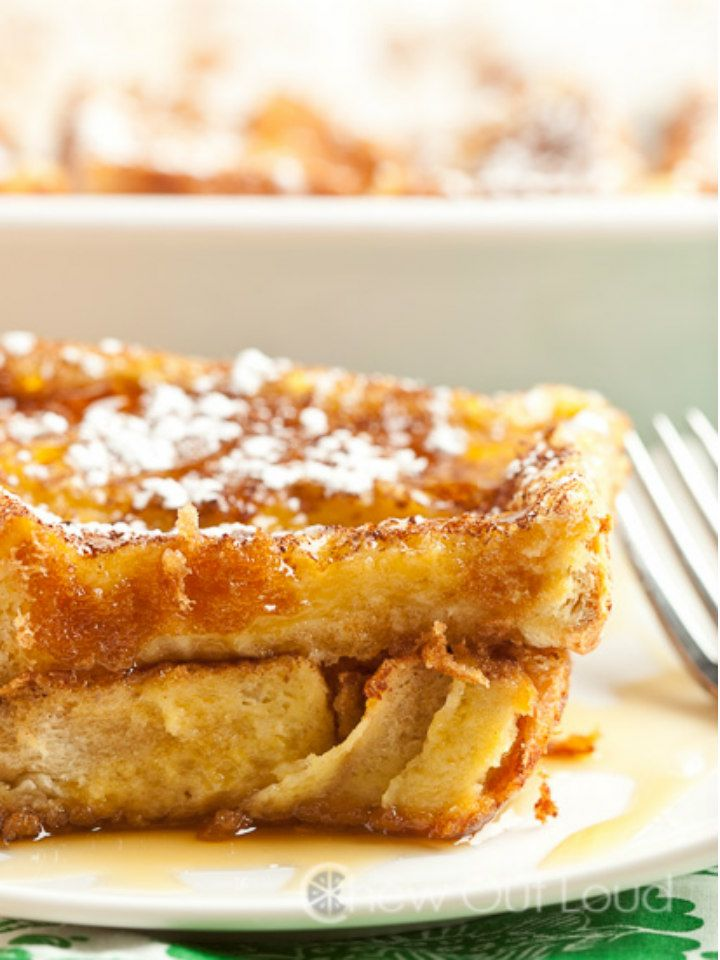Texas French Toast Bake - thick-cut bread makes for a delicious and easy overnight french toast that you can make the night before and bake in the morning.
