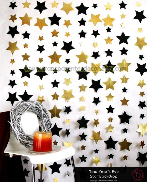 New Year S Eve Backdrop New Year S Eve Decorations Black Gold