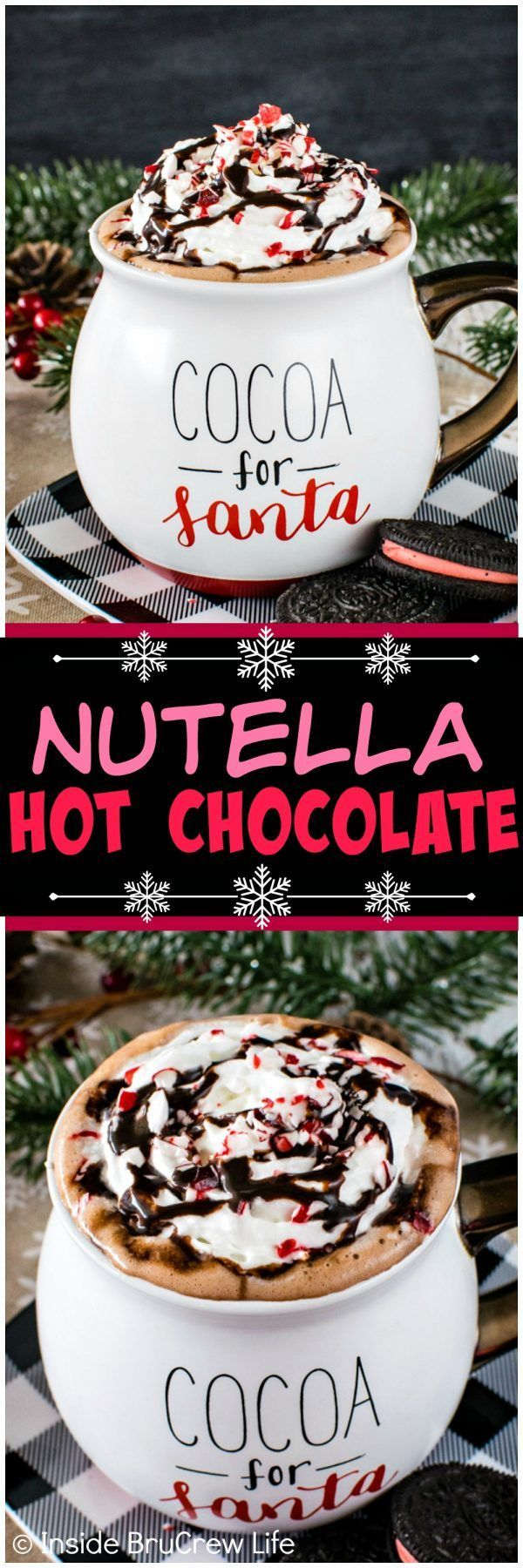 Nutella Hot Chocolate - this easy creamy hot drink is ready in minutes. Great recipe to share with the kids on a cold winter day!