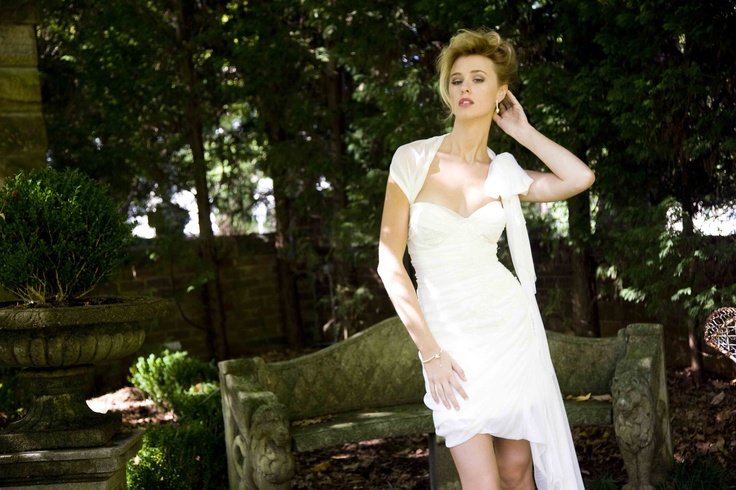 "Short Wedding Dress - Corston Couture's  ""Ivory Gardinia"" Gown"