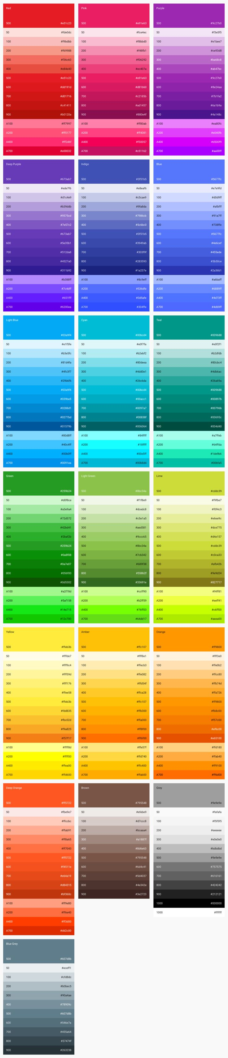 Material Design - Style - Color-UI中国-专业界面设计平台