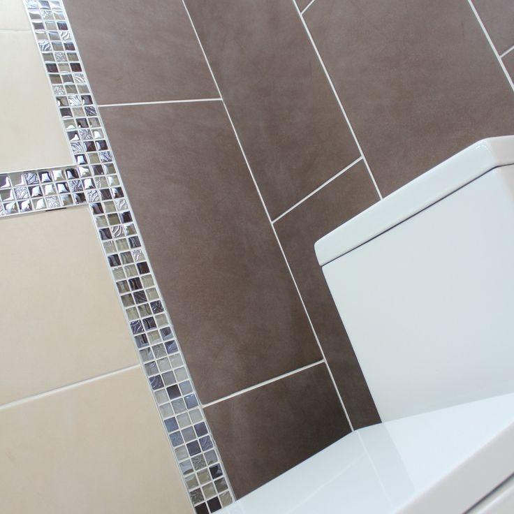69 best bathroom tiles images on pinterest corona crown for Mocha bathroom ideas