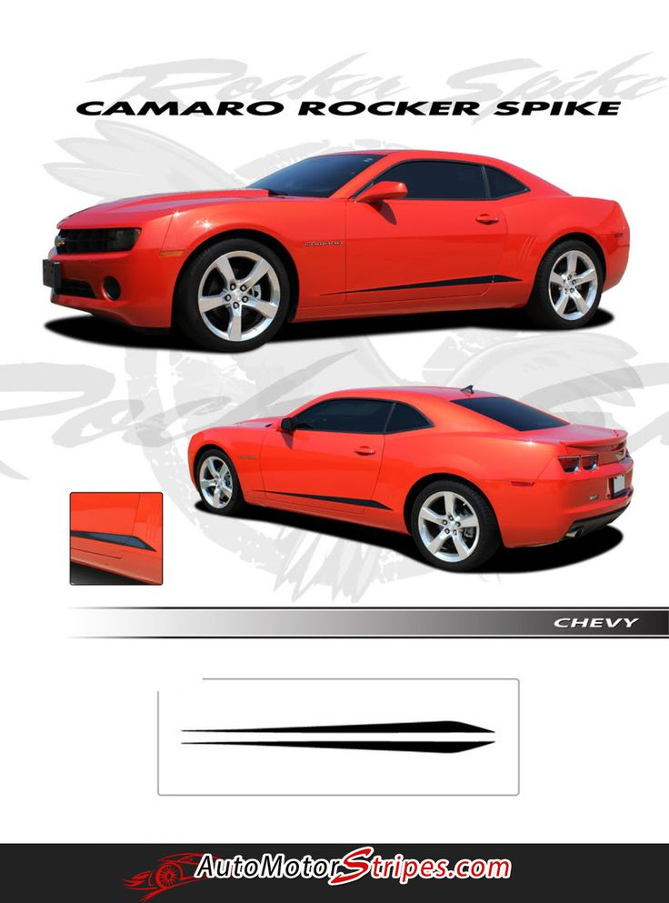 Vehicle Specific Style Chevy Camaro ROCKER SPIKES Lower Rocker Stripes Vinyl Graphic Decals Year Fitment 2010 2011 2012 2013 2014 2015 - Fits All Models Content