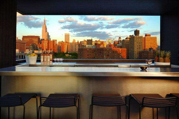 The Grill at La Piscine, New York, and more great hotel bars with incredible views!....not that I want to buy it or anything, just eat there - a lot!