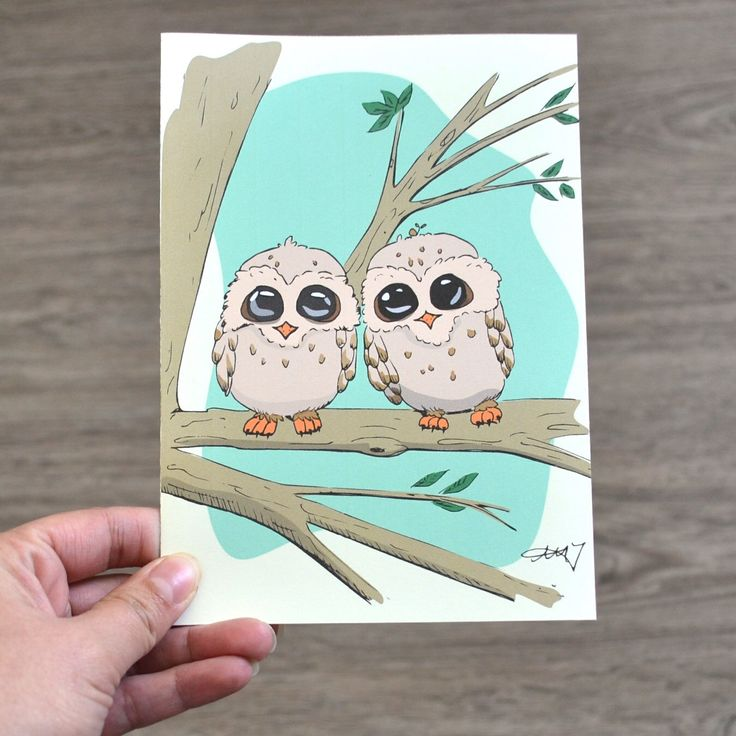 Greeting Card for any occasion, Illustrated Owl Card, Blank Inside by AMTaylorArt on Etsy https://www.etsy.com/ca/listing/280630246/greeting-card-for-any-occasion
