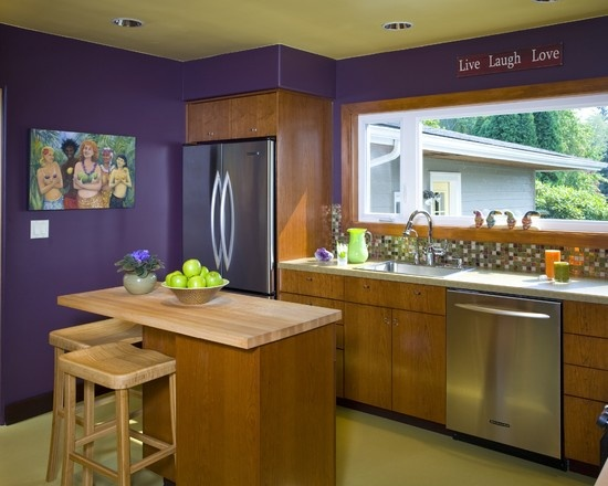 Purple Kitchen Design, Pictures, Remodel, Decor And Ideas   Page 2