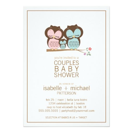 Best Owl Baby Shower Invitations Images On   Baby