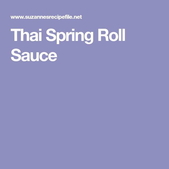Thai Spring Roll Sauce