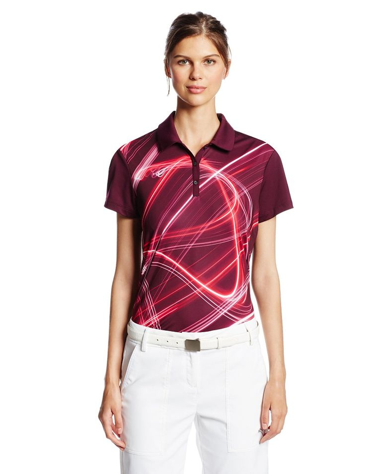 Featuring UV protection UPF 40+ this womens NA fluid light golf polo shirt by Puma will keep you well protected form the elements