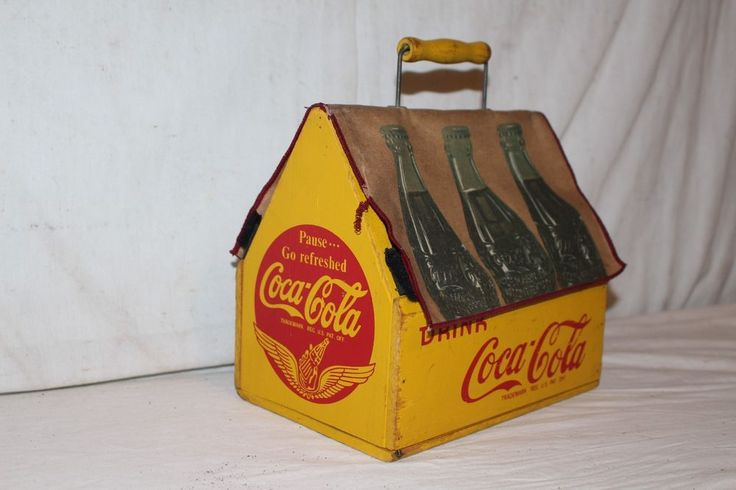 Rare Unusual Vintage 1940's Wood Coca Cola Soda Pop 6 Bottle Carrier Sign | eBay