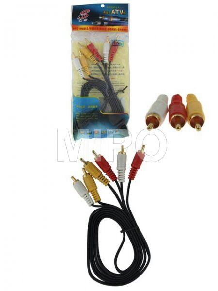 Kabel RCA to RCA 1.5m  Kabel RCA ( merah, putih, kuning ) biasa digunakan untuk menghubungkan DVD Player / Media player yang memakai jack RCA ke TV RCA. Merah dan Putih adalah untuk Audio, Kuning adalah untuk Video.   Panjang : 1.5 meter  Harga rp35.000 Info detail di : www.tokomipo.com Reseller Welcome