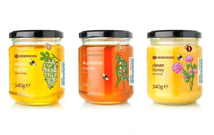 Morrisons honey packaging PD