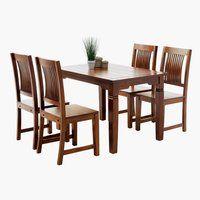 Stôl D120 cm + 4 stoličky FREDERICIA