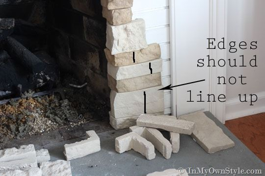 How to Makeover a Fireplace on a Budget Using AirStone | In My On Style