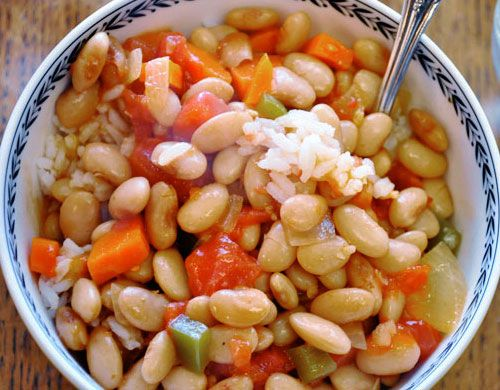 Ugandan Beans and Rice-----this is amazing----serve with Chapati