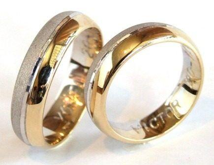aros de matrimonio combinacion de oro y plata 4 milimetros