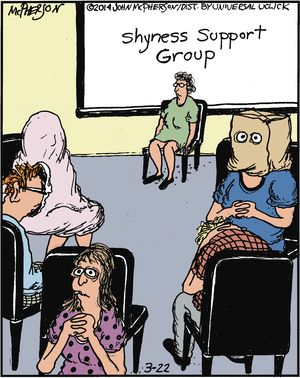 Adult group humor