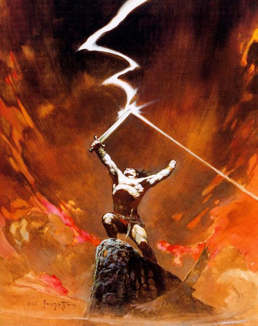 Cover art by Frank Frazetta for the novel 'Thongor Against The Gods', book 3 of…