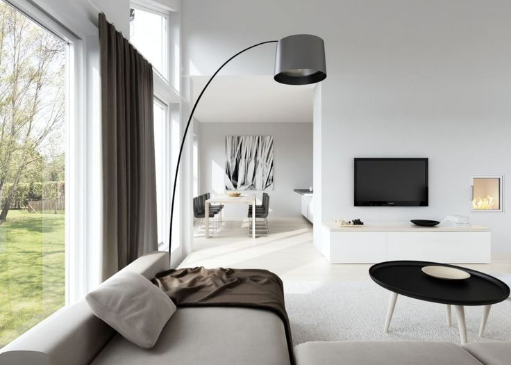 Interior:Captivating Scandinavian Interior Design Living Room With Sofas And Table Feat Floor Standing Lamps Also Curtains And Drapes Plus Flat Screen Tv And Fireplace Then Marble Flooring Along With Dining Room Sets Living Room? Think about the Scandinavian Interior Design Living Room