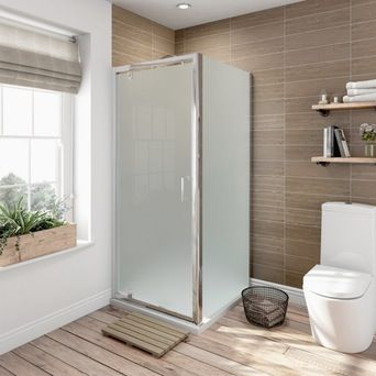 6mm Pivot Frosted Glass Shower Enclosure 800