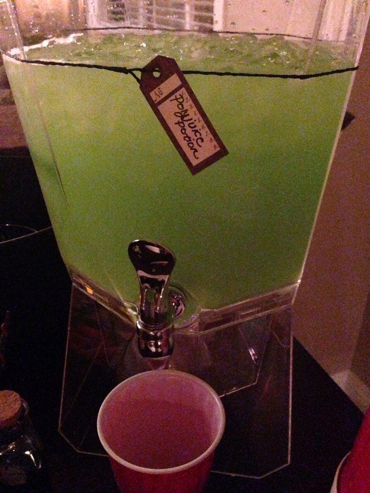 Green Hawaiian Punch (strawberry kiwi), Malibu, 151 rum, club soda. Punch was very yummy with *warning* no alcoholic taste.