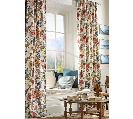 Reagan Floral Drape I Was Hoping To Find Wallpaper In This Pattern For My Dining Room But Actually Love The Idea Of Curtains