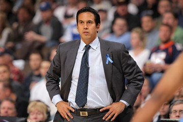 """Erik Spoelstra. More like """"my pretend ex-boyfriend,"""" but you can pretty much see why he's here."""