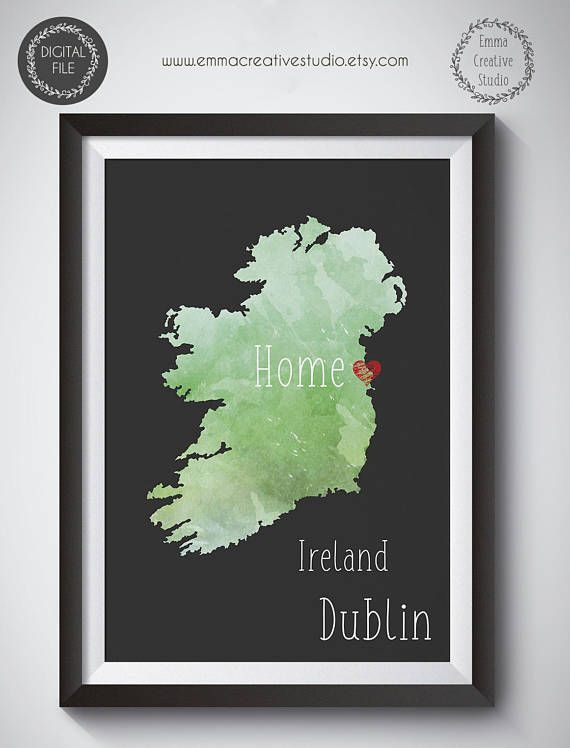 Mark your home. Customized Print State Country Print