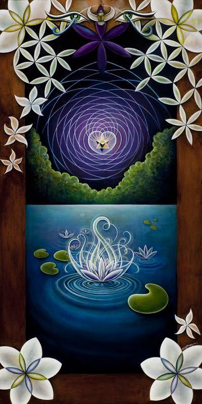 Illuminating the Darkness.  The lotus inside.  Love!