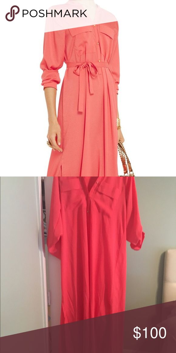 TBags Los Angeles Long Sleeve Coral Maxi Worn once for honeymoon super chic TBags long sleeve coral maxi dress Tbags Los Angeles Dresses Maxi