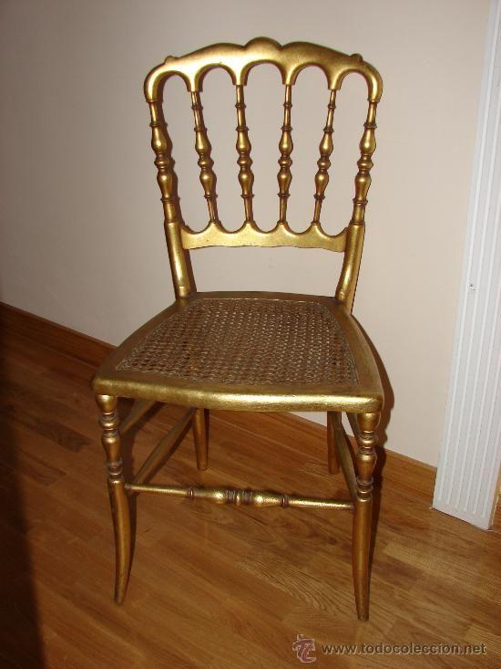 Silla italiana a os 50 madera dorada mueble dorado for Quiero ver sillas