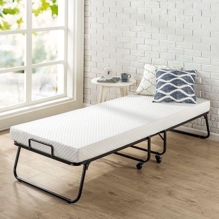 14each Zinus Roll Away Folding Guest Bed with 4 Inch Comfort Foam Mattress  Narro. Best 25  Folding guest bed ideas on Pinterest   Fold up beds