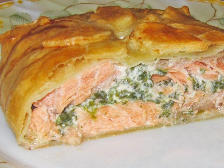 Лосось запеченный в тесте (Salmon En Croute)