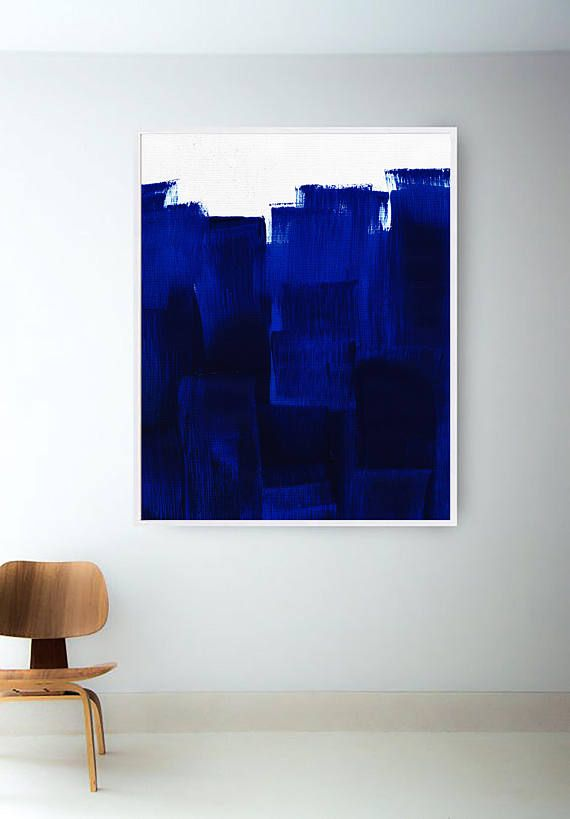 Printable Abstract Blue Painting Navy Painting Blue Print Navy Print Blue Art Navy Print Blue Abstract Painting Blue Painting Abstract Art Painting
