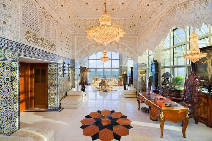 Роскошный арабский стиль в пентхаусе из Майами   фотографии фото проект интерьер дом дизайн арабский стиль