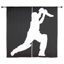 Cricket Player Curtains