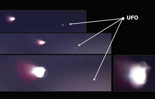 The Battle Above: California - Missile explodes after being hit by a UFO!!!