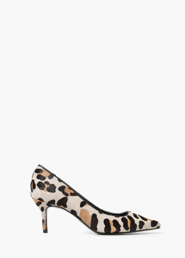 Zapato piel pelo - Zapatos de Mujer | MANGO