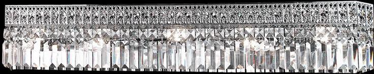 """0-001640>36""""w 5-Light Crystal Wall Sconce Polished Chrome"""