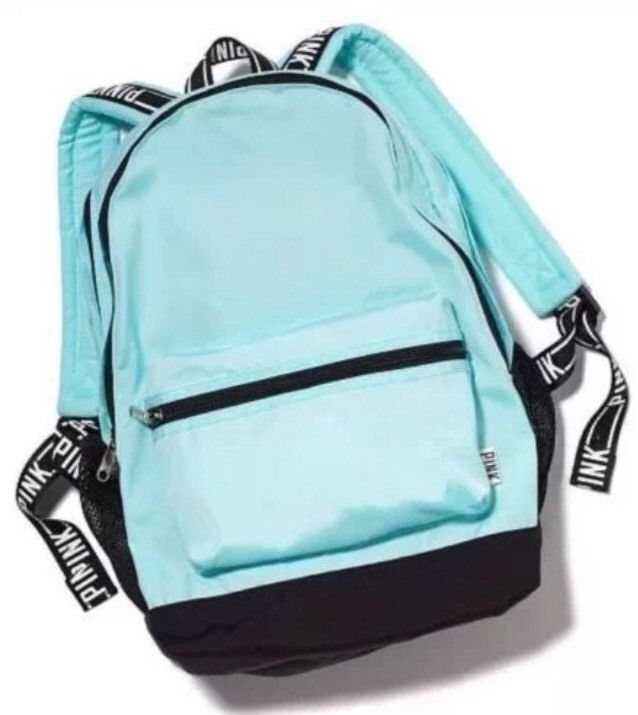Victoria s Secret PINK Campus Backpack Bag Mermaid Teal Blue NWT