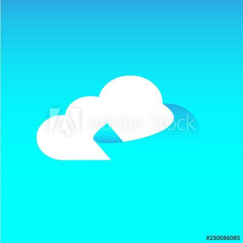 cloud, icon, paper, blue, computing, internet, symbol, sky