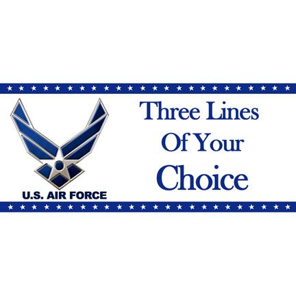 Click for larger picture of PERSONALIZED AIR FORCE BANNER PARTY SUPPLIES