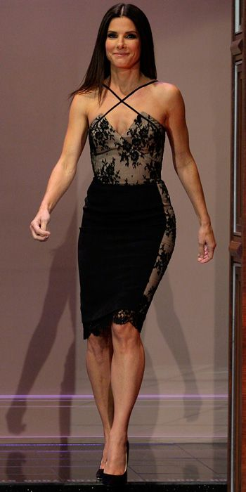 Sandra Bullock. Azzaro dress. Gorgeous!